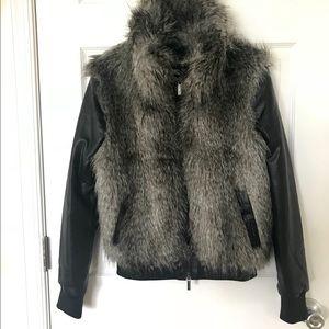 Armani Exchange Faux Fur Jacket